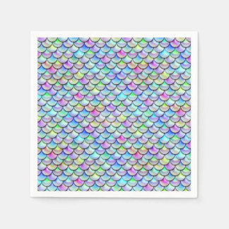Falln Rainbow Bubble Mermaid Scales Paper Napkin