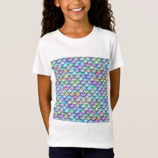 Falln Rainbow Bubble Mermaid Scales T-Shirt