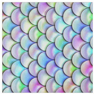 Falln Rainbow Bubble Mermaid Scales v2 Fabric
