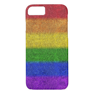 Falln Rainbow Glitter Gradient iPhone 7 Case