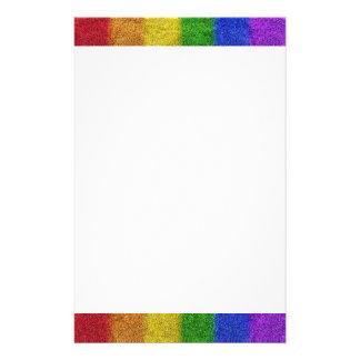 Falln Rainbow Glitter Gradient Personalized Stationery