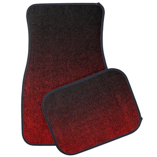 Falln Red & Black Glitter Gradient Car Mat