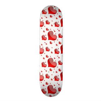 Falln Red Hearts (You Choose Background Color!) Skate Board Decks