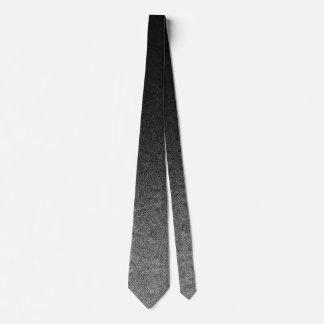 Falln Silver & Black Glitter Gradient Tie