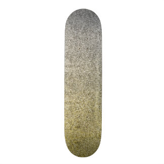 Falln Silver & Gold Glitter Gradient Skate Board Decks