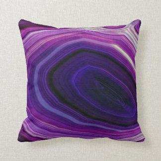 Falln Swirled Purple Geode Cushion