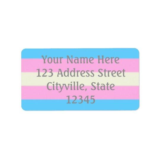 Falln Transgender Pride Flag Label