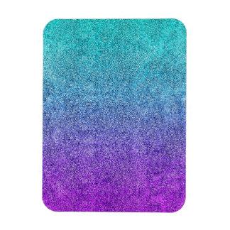 Falln Tropical Dusk Glitter Gradient Rectangular Photo Magnet
