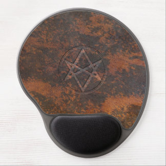 Falln Unicursal Hexagram Leather Gel Mouse Pad