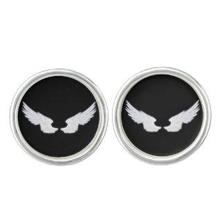 Falln White Angel Wings Cuff Links