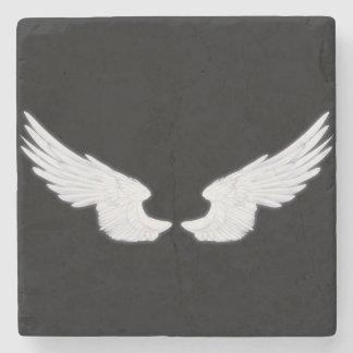Falln White Angel Wings Stone Coaster