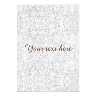 Falln White Lace 13 Cm X 18 Cm Invitation Card