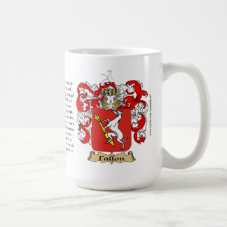 Fallon, the Origin, the Meaning and the Crest Coffee Mug