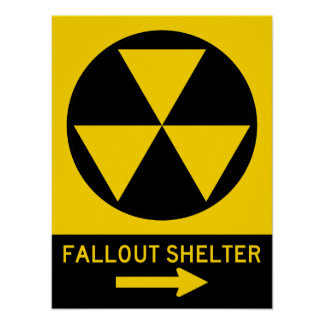 Fallout Shelter Guide Highway Sign Poster