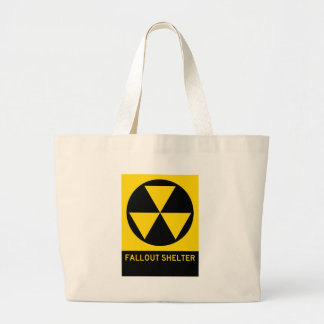 Fallout Shelter Highway Sign Canvas Bags