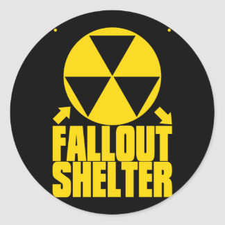 Fallout_Shelter Round Sticker