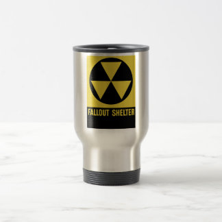 Fallout Shelter Sign Stainless Steel Travel Mug