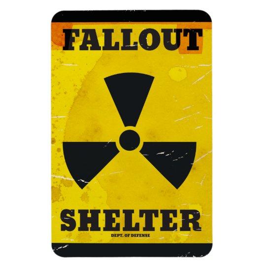 Fallout Shelter vintage warning poster Rectangular Photo Magnet