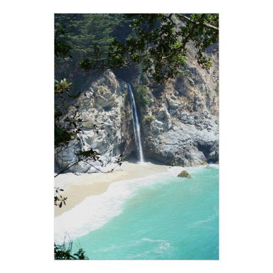 falls at Big Sur Poster