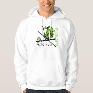 Falls Creek Australia green skier guys hoodie