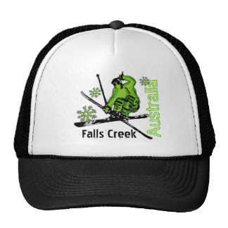 Falls Creek Australia green theme ski hat