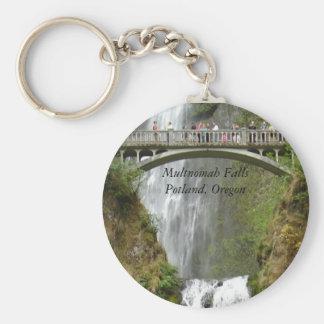 Falls, Multnomah FallsPotland, Oregon Basic Round Button Key Ring