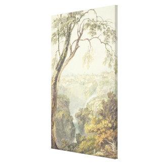 Falls of the Anio (w/c) Canvas Print