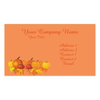 Fall's Pumpkins Pack Of Standard Business Cards