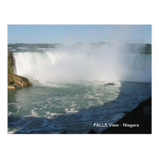 Falls View : Niagara USA Canada Postcard