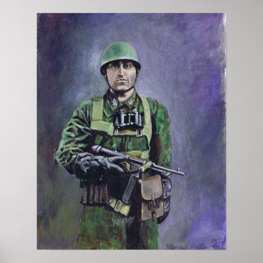 Fallschirmjäger (green devils) poster