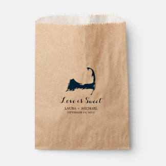 Falmouth Cape Cod Map with Heart | Favors Favour Bags