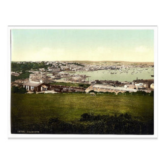 Falmouth, Cornwall, England vintage Photochrom Postcard