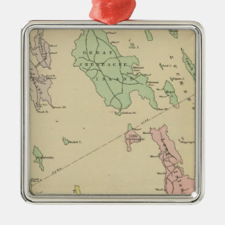 Falmouth Foreside, adjacent islands, Casco Bay Christmas Ornament