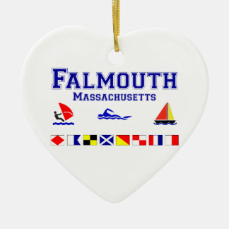 Falmouth MA Signal Flag Christmas Ornament