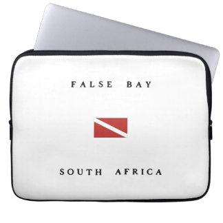 False Bay South Africa Scuba Dive Flag Laptop Sleeve