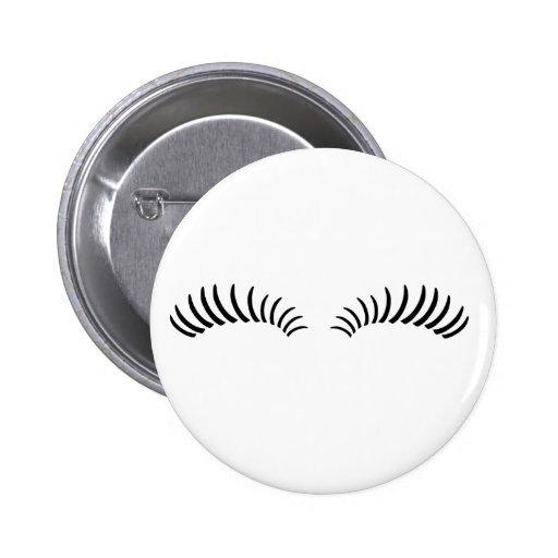 False Eye Lashes Pinback Buttons