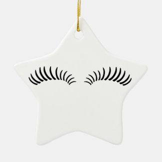 False Eye Lashes Christmas Ornament