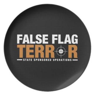 False Flag Terror Dinner Plate