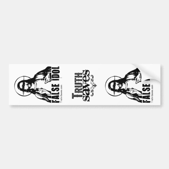 False Idol 3-in-1 Sticker Bumper Sticker