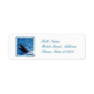 False Killer Whale Mailing Label Return Address Label