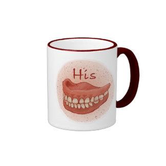 False Teeth His Ringer Mug