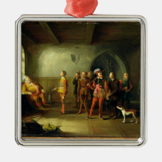 Falstaff and the Recruits, from 'Henry IV, Part II Christmas Ornament