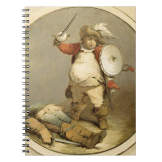 Falstaff with the Body of Hotspur, c.1786 (oil on Notebook