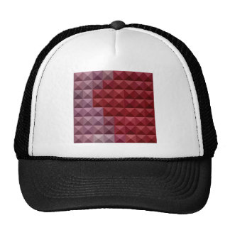 Falu Red Abstract Low Polygon Background Cap