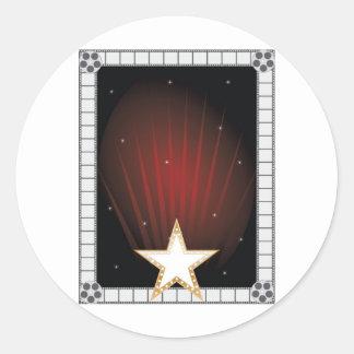 Fame Background Classic Round Sticker