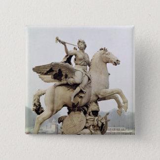 Fame Riding Pegasus  1699-1702 15 Cm Square Badge