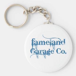 Fameland Garage Company - Planet Blue Edition Basic Round Button Key Ring