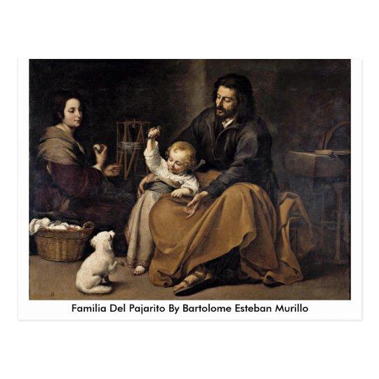 Familia Del Pajarito By Bartolome Esteban Murillo Postcard