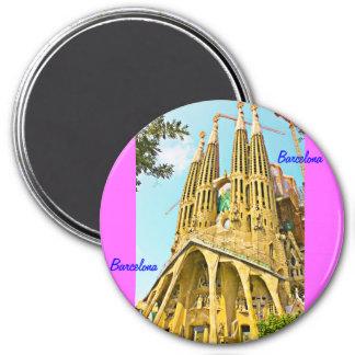 familia sagrada 7.5 cm round magnet