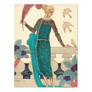 Familiar Doves by George Barbier Post Cards